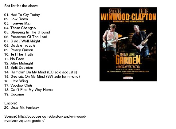 claptonwin Winwood & Clapton   Together Live 2008