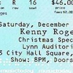 kennyrogersticket 150x150 A Gamblers Christmas   Kenny Rogers