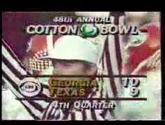 CBS CottonBowl ScreenShot Georgia Bulldogs vs Texas Longhorns   Cotton Bowl 1984