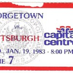 Hoyas Panthers ticket stub 150x150 Georgetown Hoyas vs. Panthers 1983   Now I KNOW a Panther