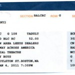 jersey Boys ticket stub 150x150 Jersey Boys   Head Cold and All