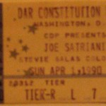 satriani ticket stub 150x150 Joe Satriani   Constitution Hall, DC   1990