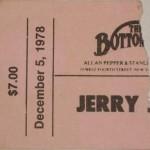 Jerry Jeff Walker Stub