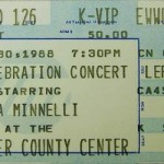 LizaMinnelli Ticket Stub1 150x150 Thanks Liza   Blind date leads to 20 years of marriage