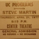 Steve Martin Ticket Stub 150x150 Steve Martin a Wild and Crazy Guy