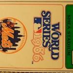 1986 World Series game 1 Ticket Stub