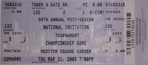 Nit Tournament Madison Square Garden