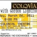 grodon lightfoot ticket 150x150  An Evening With Gordon Lightfoot
