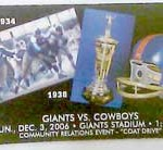 Giants Cowboys Ticket 150x138 VIP Pass at Giants Stadium