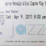 Marsalis Clapton Ticket 150x150 Wynton Marsalis and Eric Clapton Play the Blues
