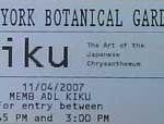 kiku ticket