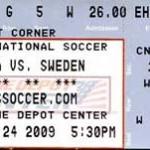 USA Sweden Soccer Ticket 150x150 Landon Donovan the All Time US goal scorer