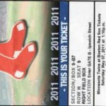 red sox ticket 150x150 Take Me Out to the Old Ball Game