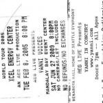 Lindas Yanni Concert Stubs 150x150 The Yanni Passion Continues......