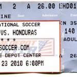 US-Honduras-Ticket-Stub
