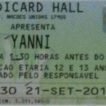 Yanni Ticket 150x150 Yanni   Stubstories from Brazil to the US