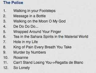 police-setlist