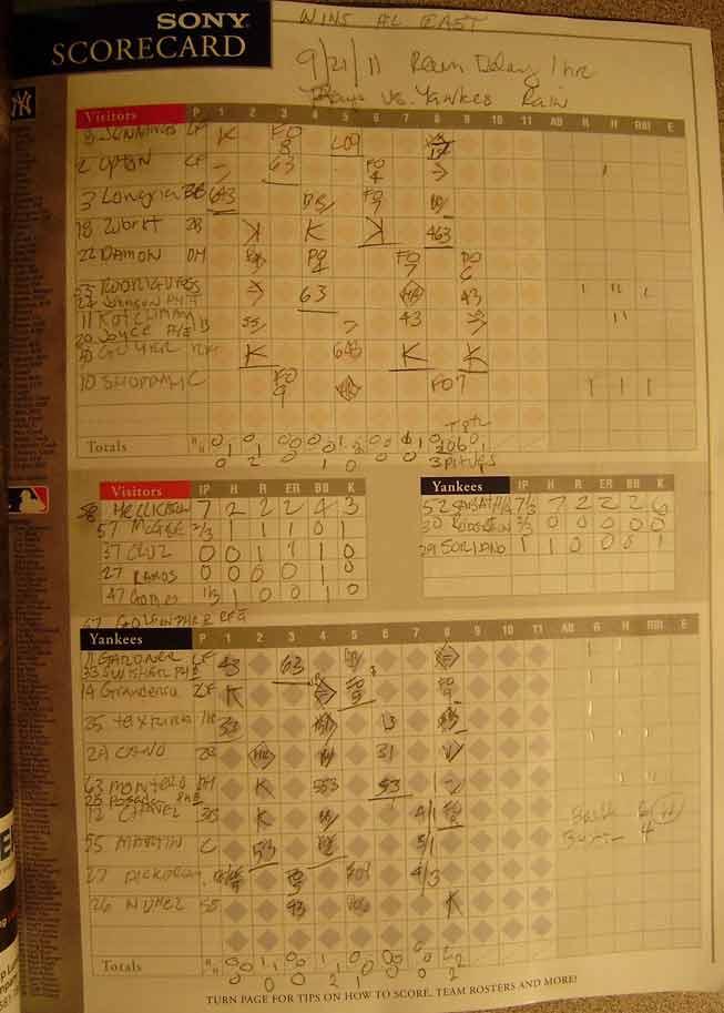 Yankee-Score-Card