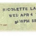 nicolette larson ticket 150x150 Nicolette Larson the It girl