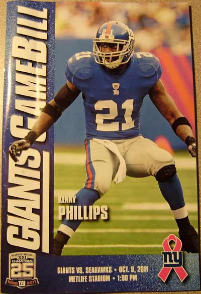 Giants Program Giants drop one to the Seahawks