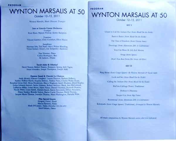 wynton marsails program Wynton Marsalis turning 50