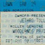 Jethro Tull Ticket 150x150 Jethro Tull 25th Anniversary Tour