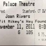 joan rivers ticket 150x150 Joan Rivers at the Palace Theatre in Stamford