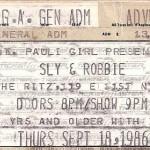 sly robbie ticket stub 150x150 Sly & Robbie, nyc, sept 1986