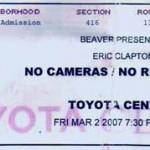 Clapton Concert Ticket 150x150 Eric Clapton remains a guitar god