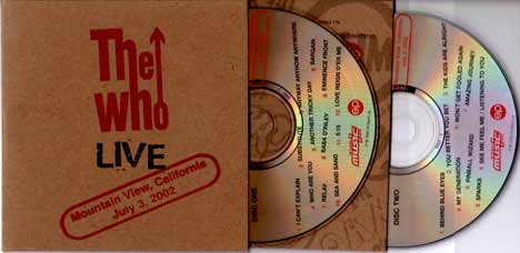 The Who CD THE WHO at the Hollywood Bowl!