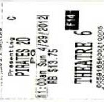 Band Of Misfits ticket stub 150x148 I saw The Pirates : Band Of Misfits