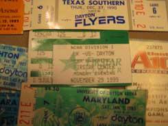 misc ticket stubs The Dayton Flyer Faithful