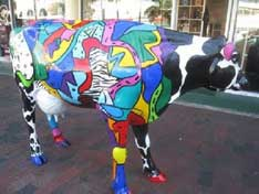 Peter Max Cow Parade Peter Max showcasing his work in Houston